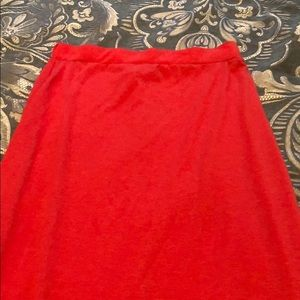 Ambiance apparel maxi skirt in coral size small